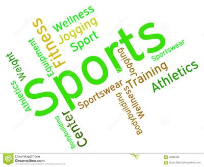 Sports Word Shows Physical Activity And Exercising Stock Illustration - Image: 55984493
