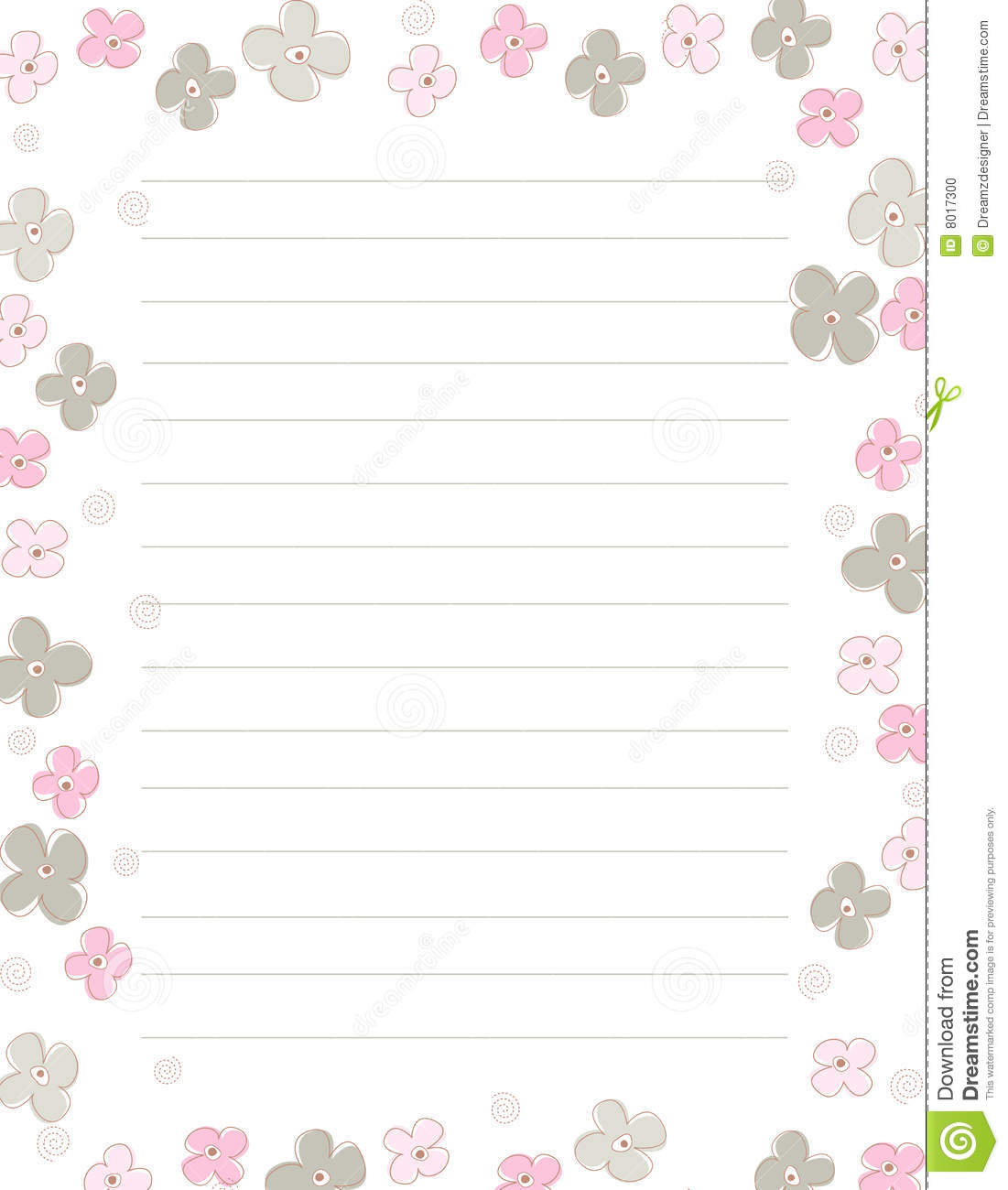Fall Wallpaper With Owls Spring Flowers Note Paper Stock Illustration Illustration