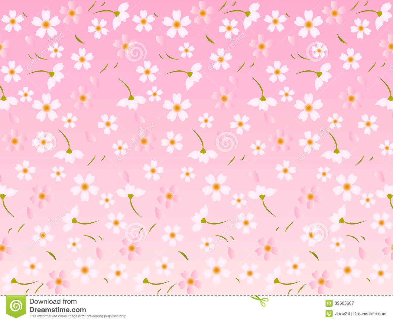 Pretty Anime Girl Wallpaper Spring Pink Cherry Blossoms Background Royalty Free Stock