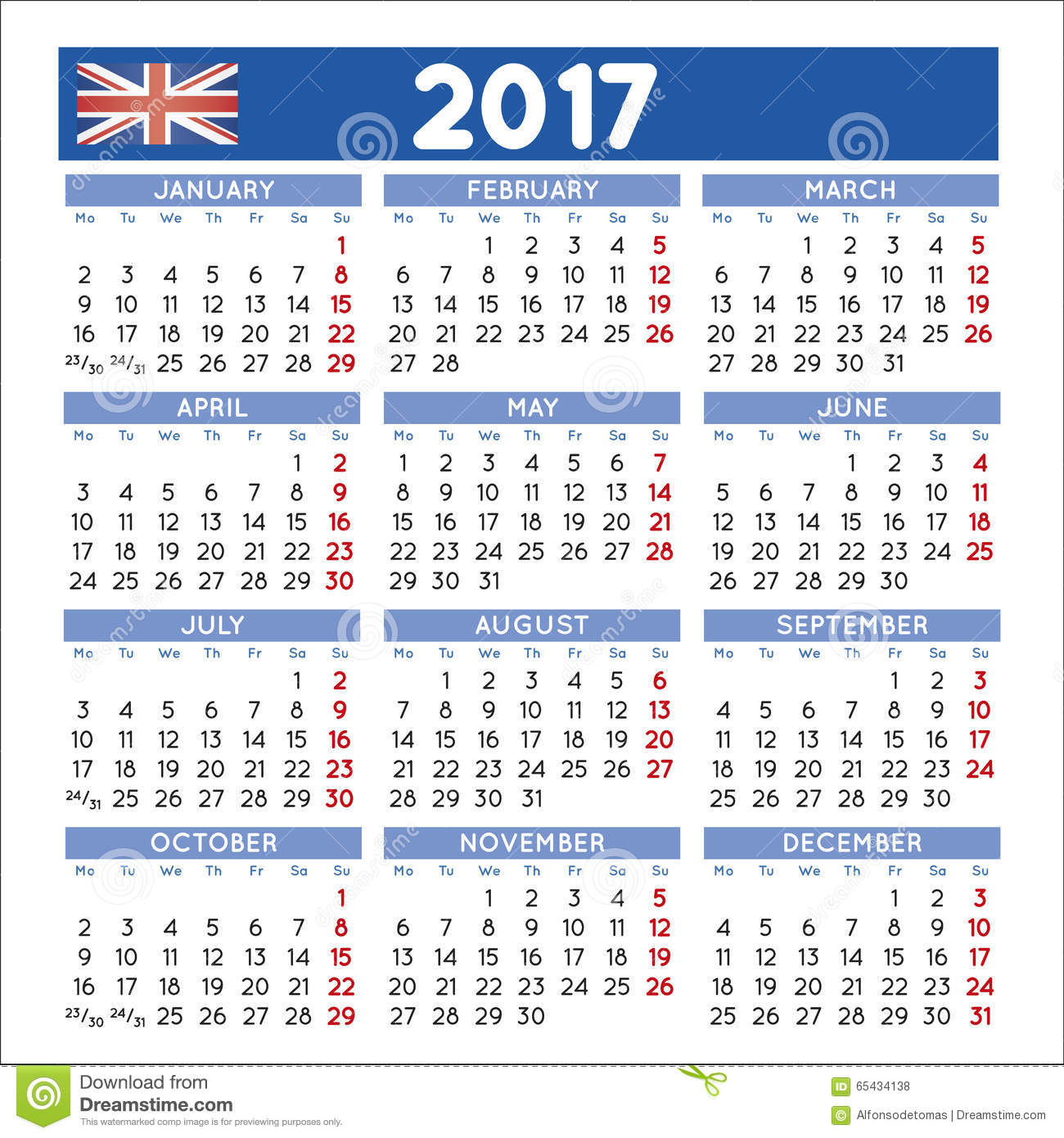 Download Calendar 2017 Uk
