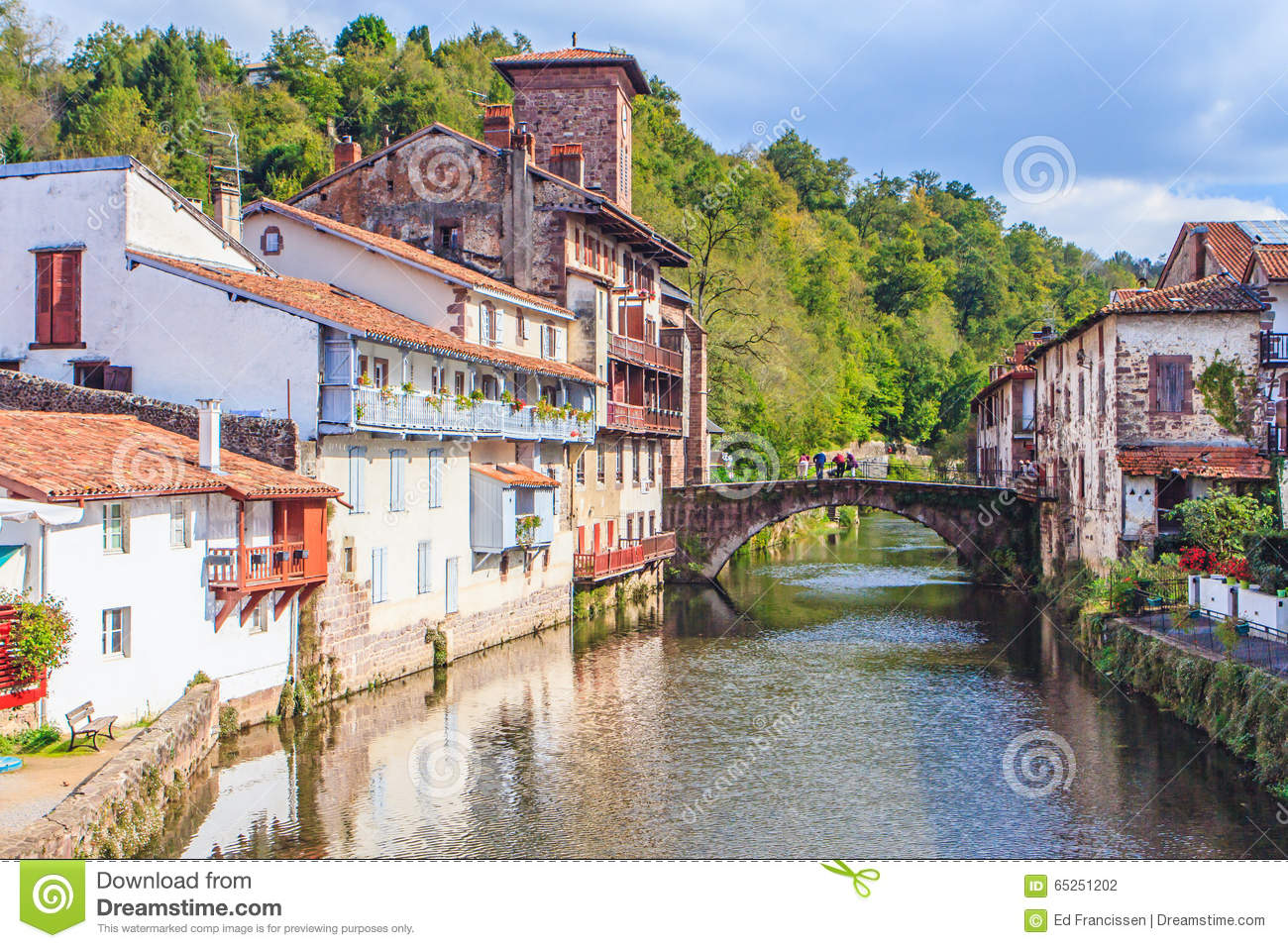 St Jean De Pied De Port St Jean Pied De Port France Editorial Photography Image Of