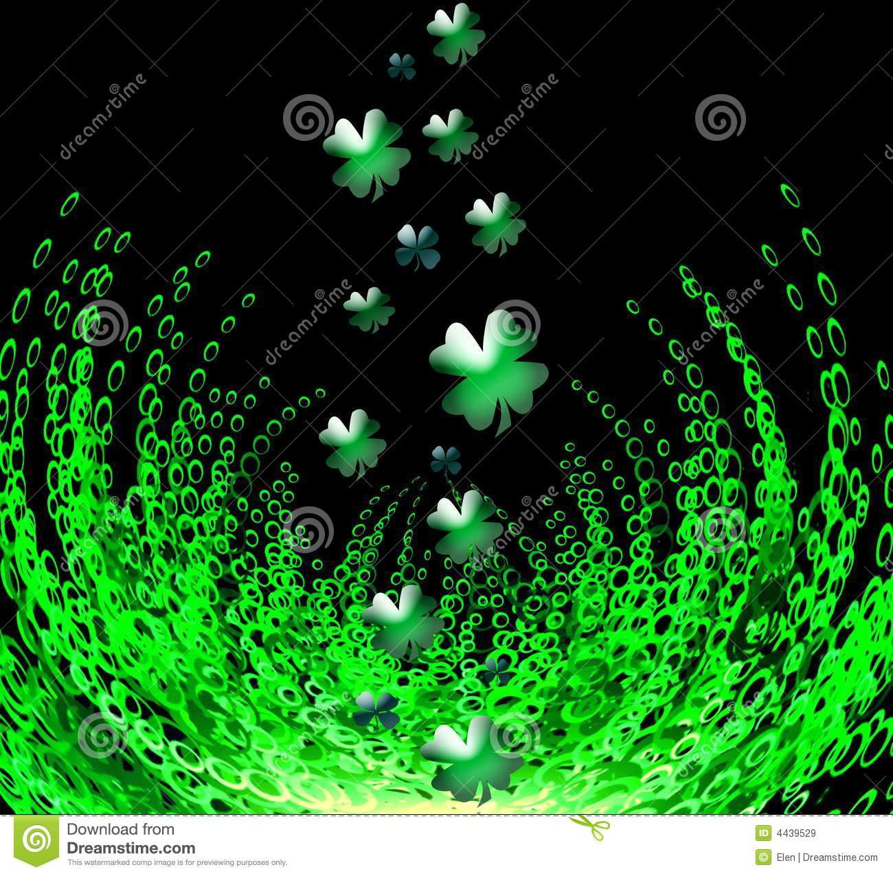 3d Shamrock Wallpaper St Patrick S Day Stock Illustration Image Of Patron