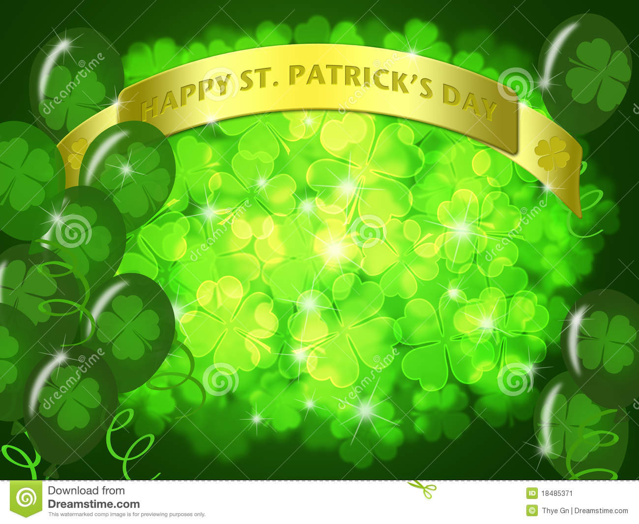 Happy New Year 3d Wallpaper Download St Patricks Day Two Green Beers Banner Shamrock Stock