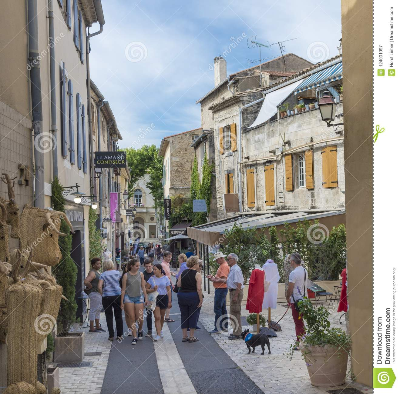 St Remy Street In Historic City Center Of St Remy De Provence Editorial