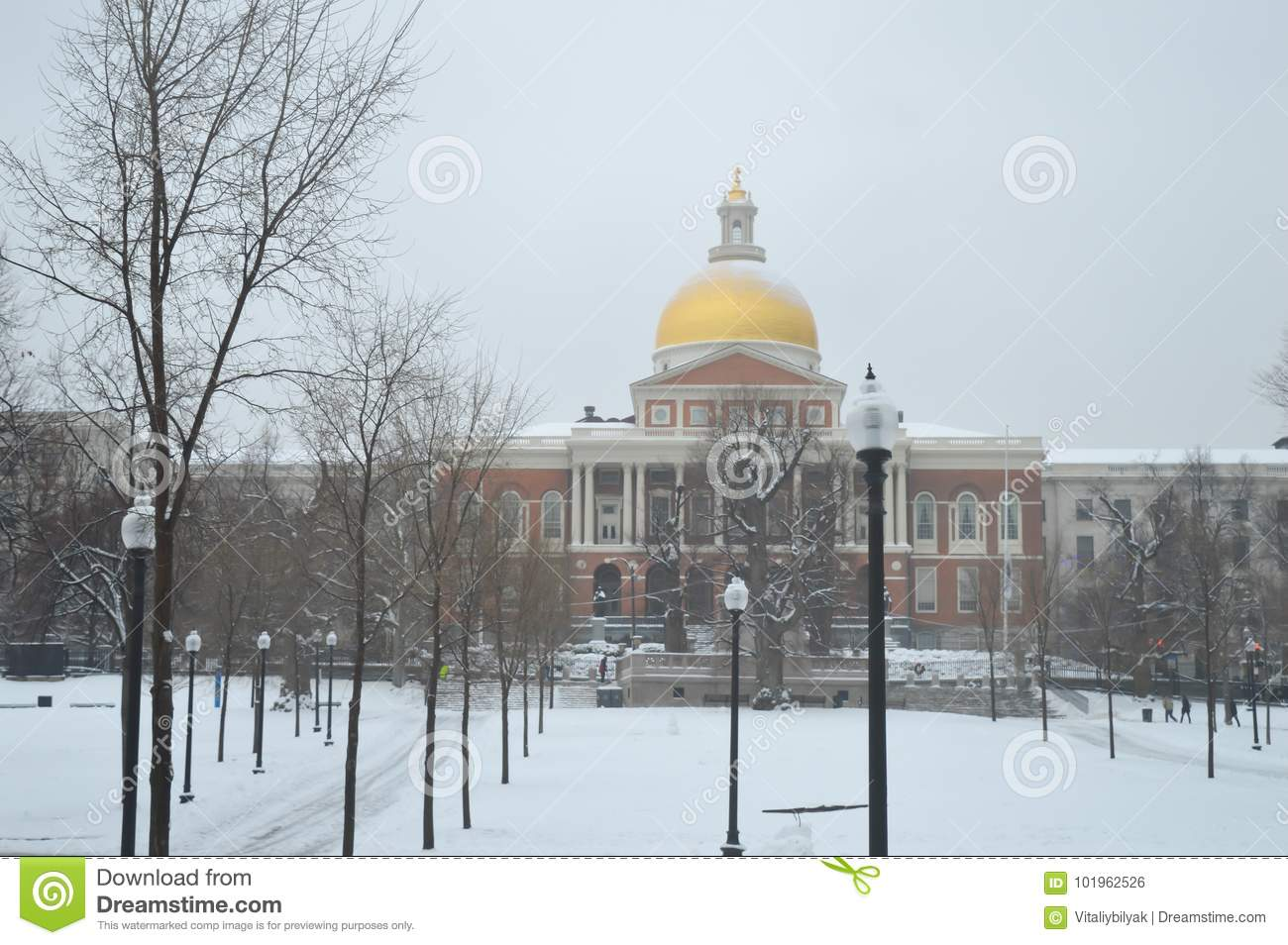 Staat Massachusetts Haus In Boston Usa Am 11 Dezember