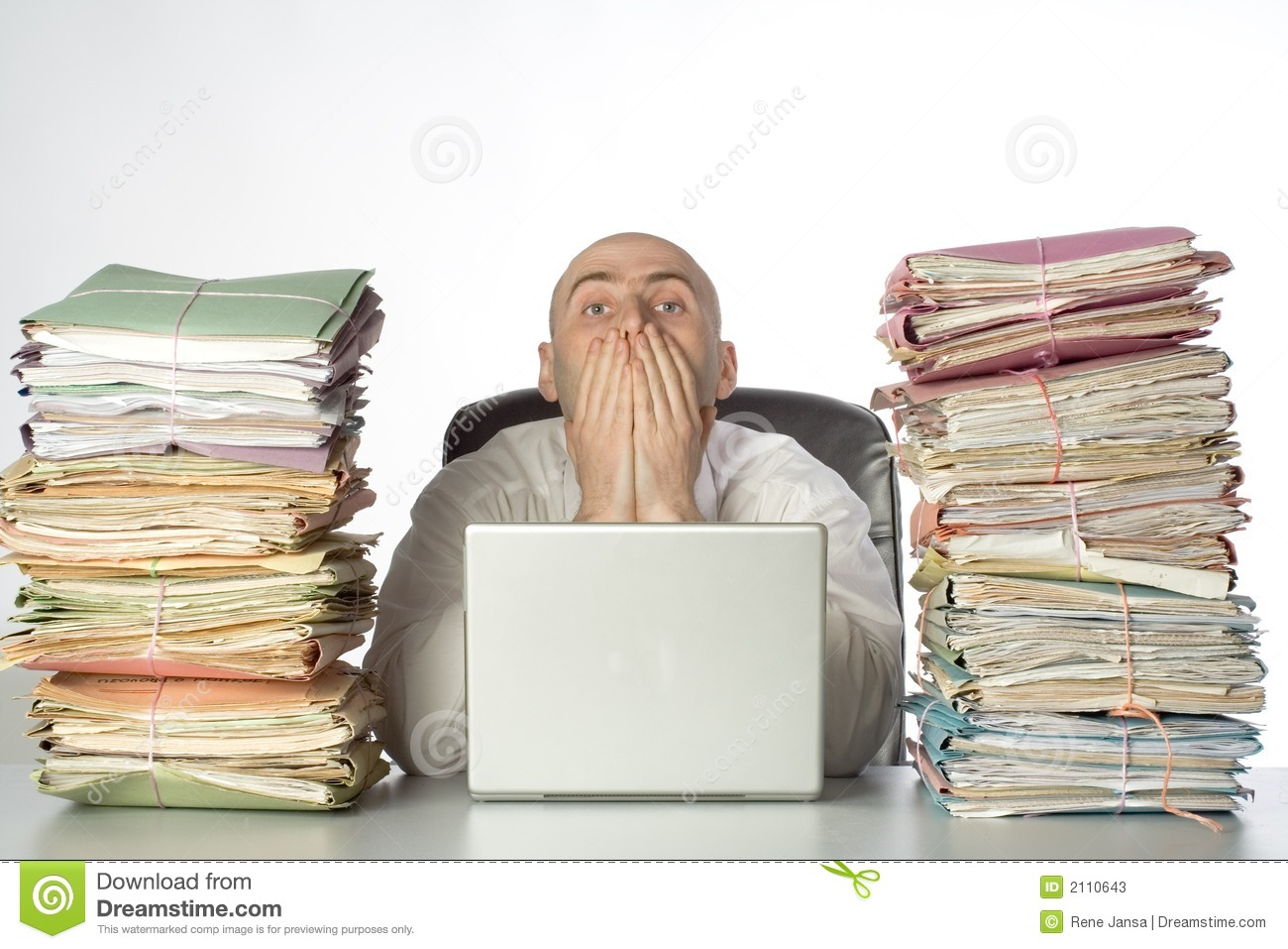Stacks Of Paperwork Stock Image Image Of Hands