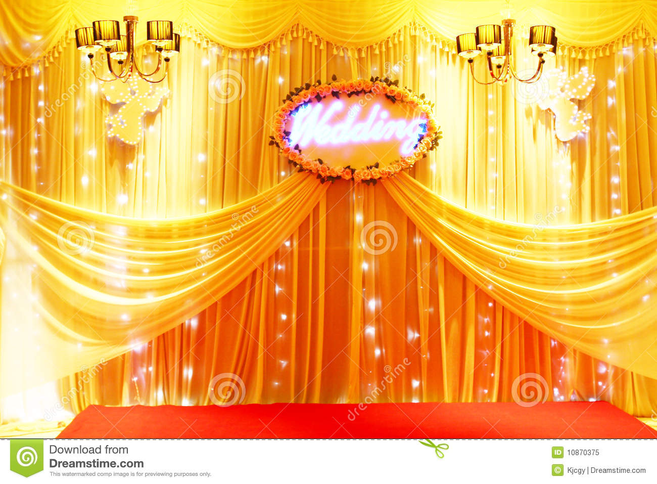 Stage Decoration Stage Decoration Stock Image Image Of Yellow Carpet 10870375
