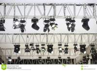Stage lamps stock image. Image of white, ceiling, colorful ...