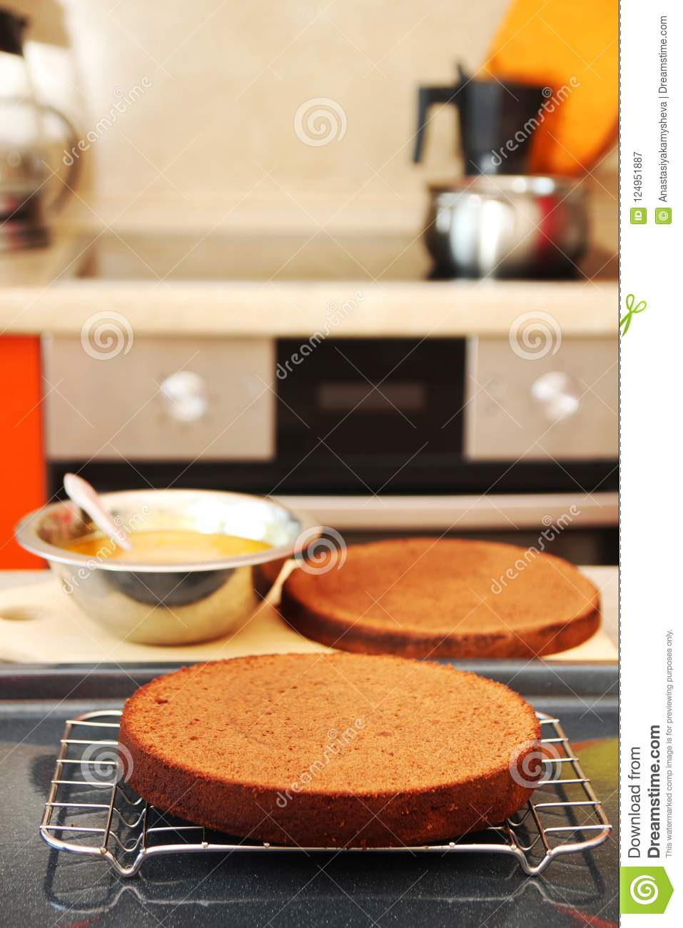 Stage Cuisine A Stage Of Cooking Sacher Torte Stock Image Image Of Cuisine