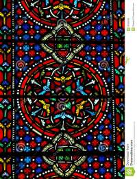 Stained Glass Pattern. Royalty Free Stock Image - Image ...
