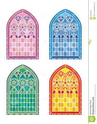 Stained Glass Window Stencils Stock Vector - Image: 56059459