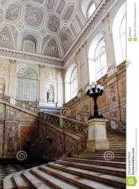 Stairs Inside The Royal Palace In Naples, Italy Stock ...