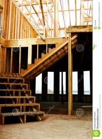 Stairs Wood Framed Home Construction Stock Photo - Image ...