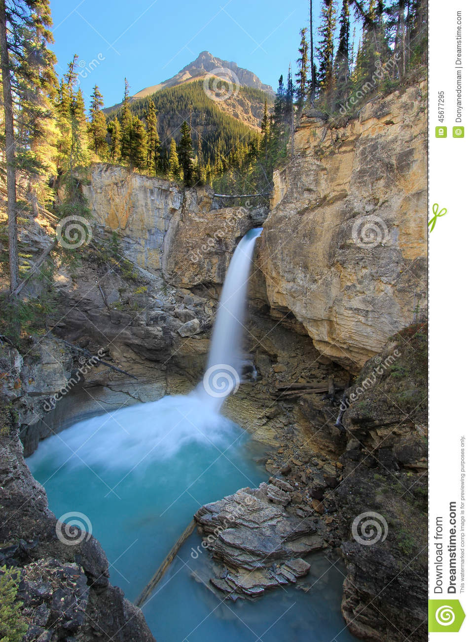 Fall Vector Wallpaper Stanley Falls In Beauty Creek Canyon Jasper National Park