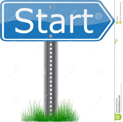 Start Signpost stock vector. Image of sport, direct, motor - 7956181