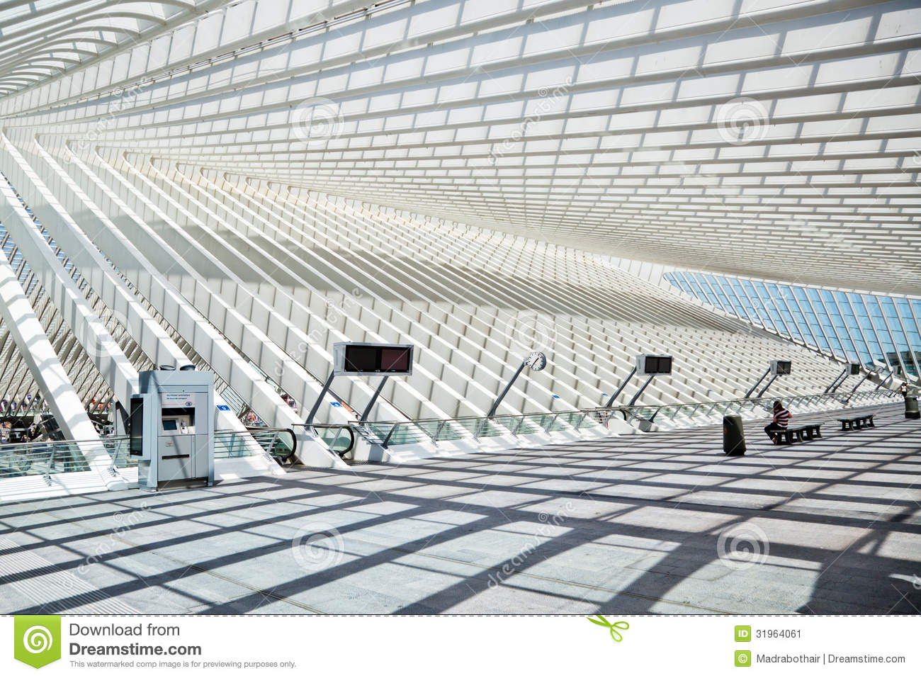 Design Liege Station Guillemins In Liège Editorial Photo Image Of Escalator