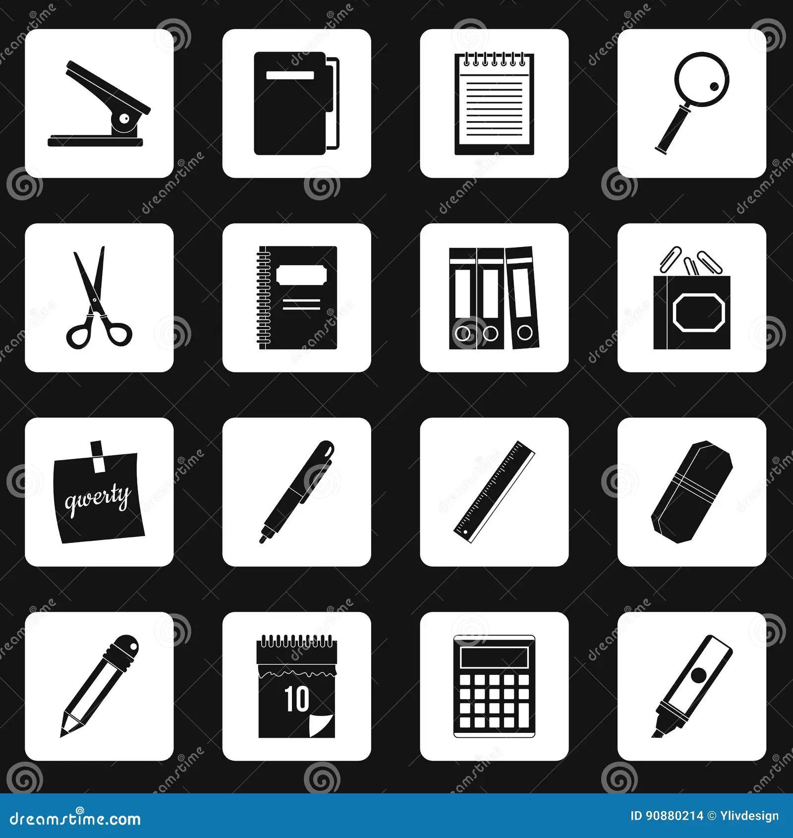 Vector Audio Symbols Set Auto Electrical Wiring Diagram Wiringdiagram Baldor Electric Motor Diagrams Coverpools Stationery Icons Squares Stock