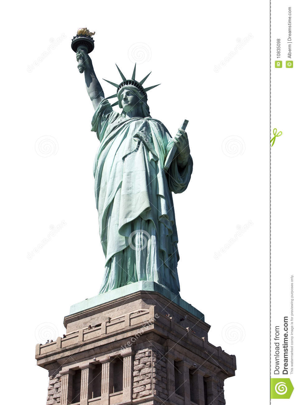 Stock Image Template Statue Of Liberty Royalty Free Stock Photos Image 10835098
