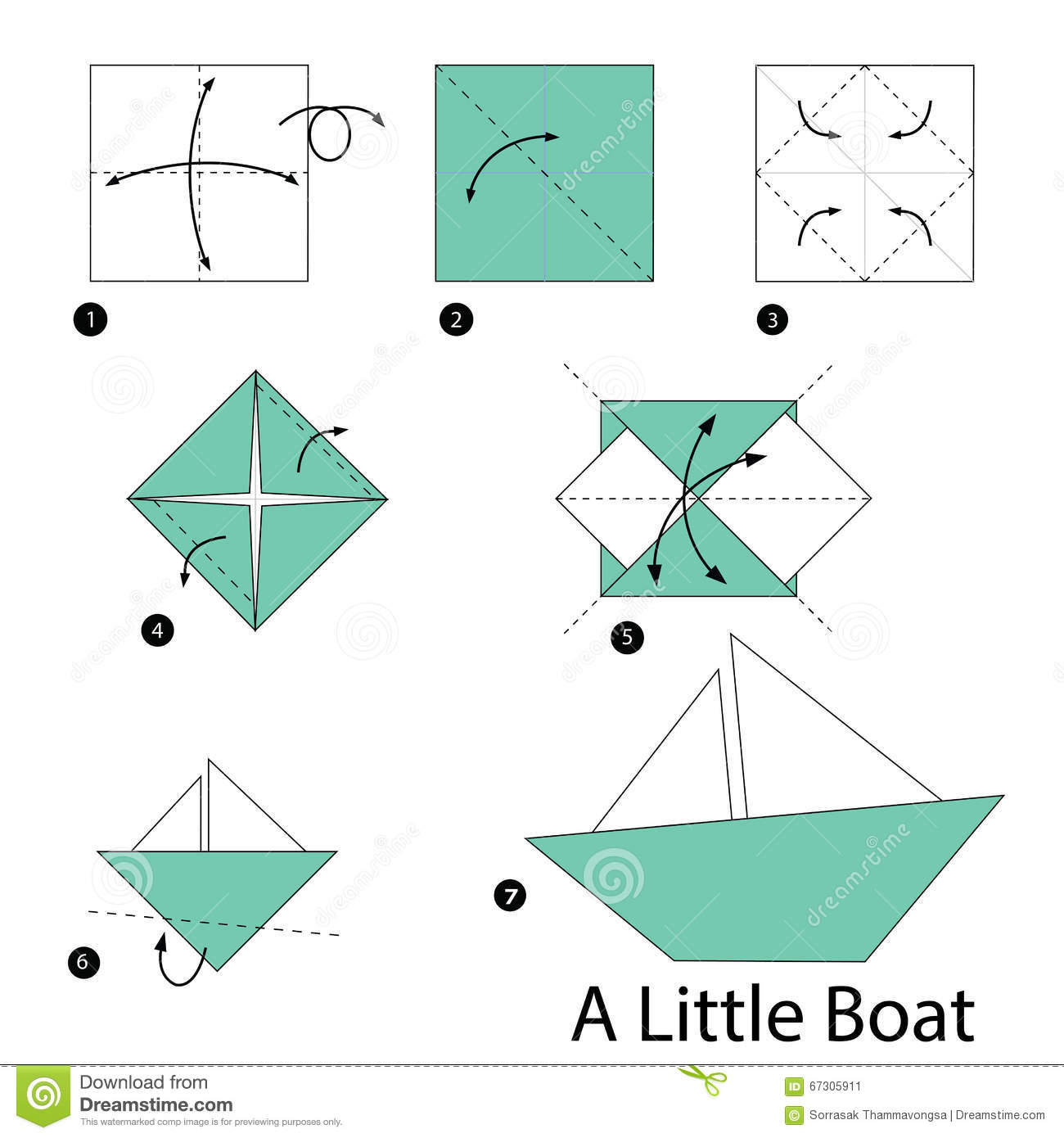 Papier Dampfer Falten Step By Step Instructions How To Make Origami A Little