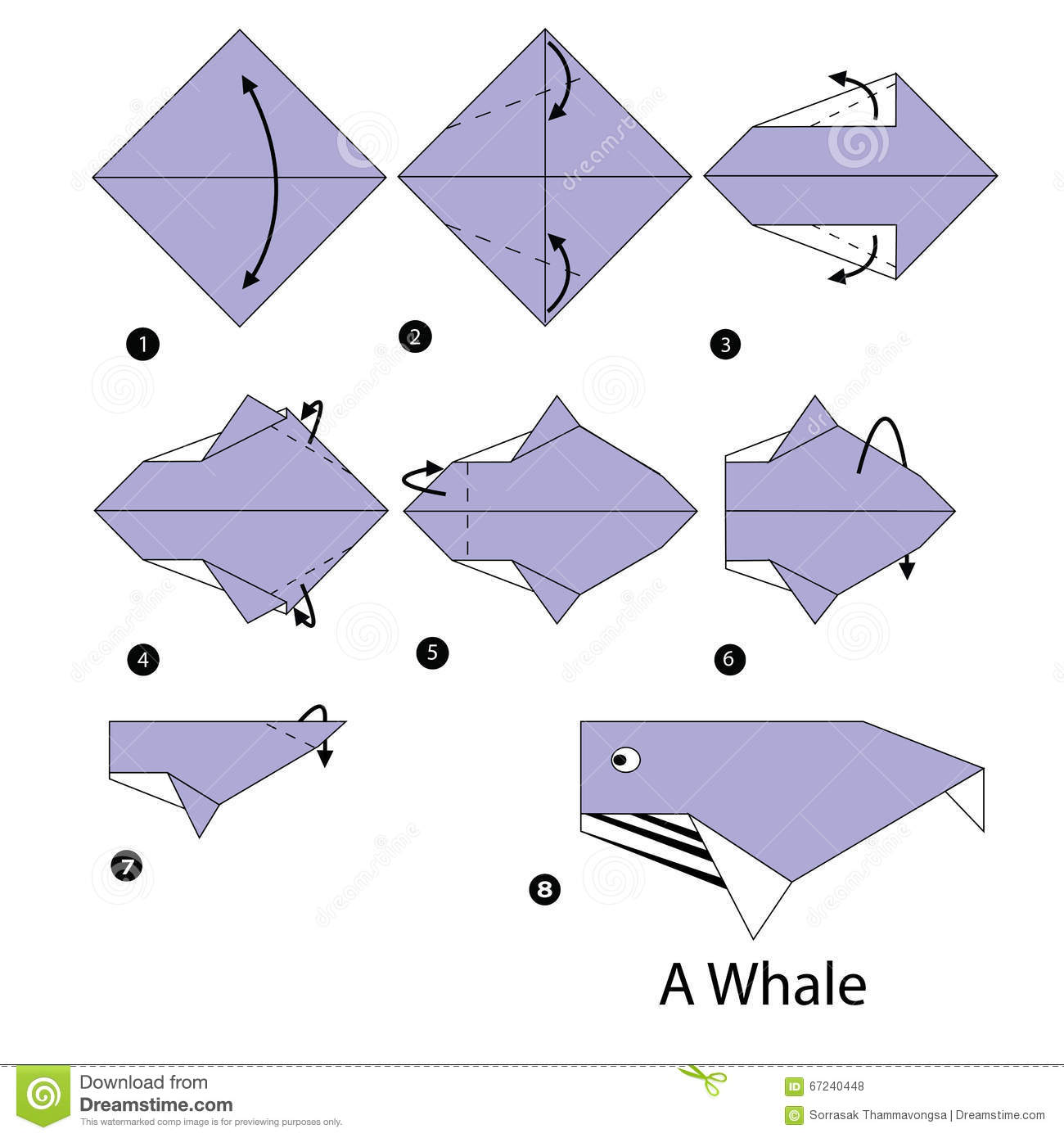 How To Make An Origami Whale Step By Instructions Auto Pigorigami Pig Instructionsorigami Diagram3d 3d Animals