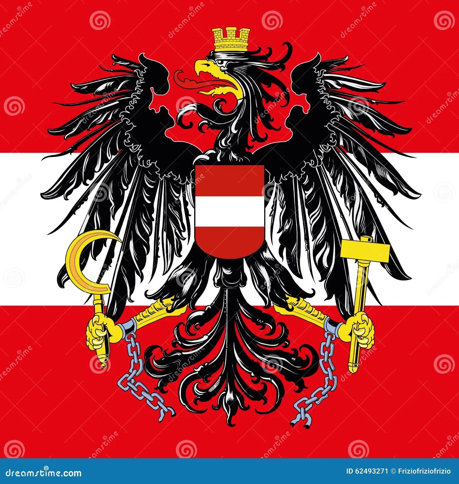 Wallpaper Abstrak 3d 214 Sterreich Wappen Und Flagge Vektor Abbildung Bild 62493271