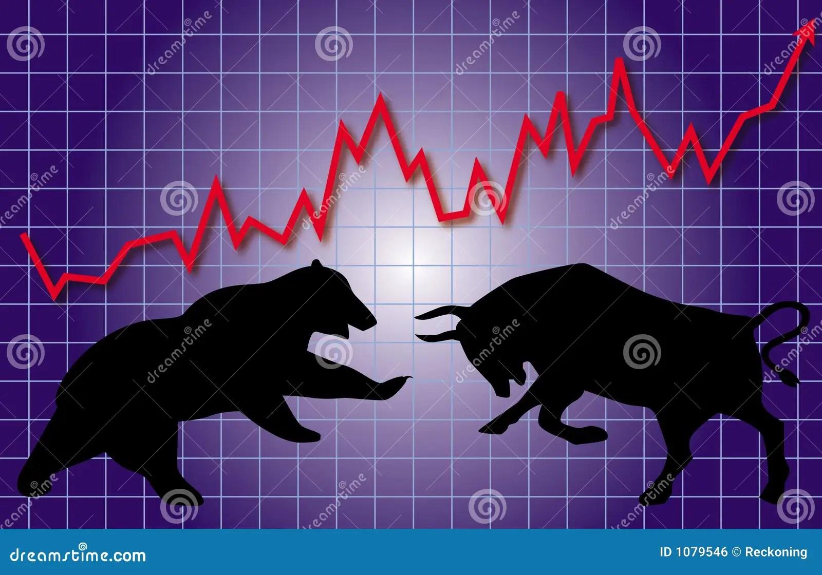Wall Street Bull Wallpaper Hd Stock Market Bull Amp Bear Royalty Free Stock Image Image