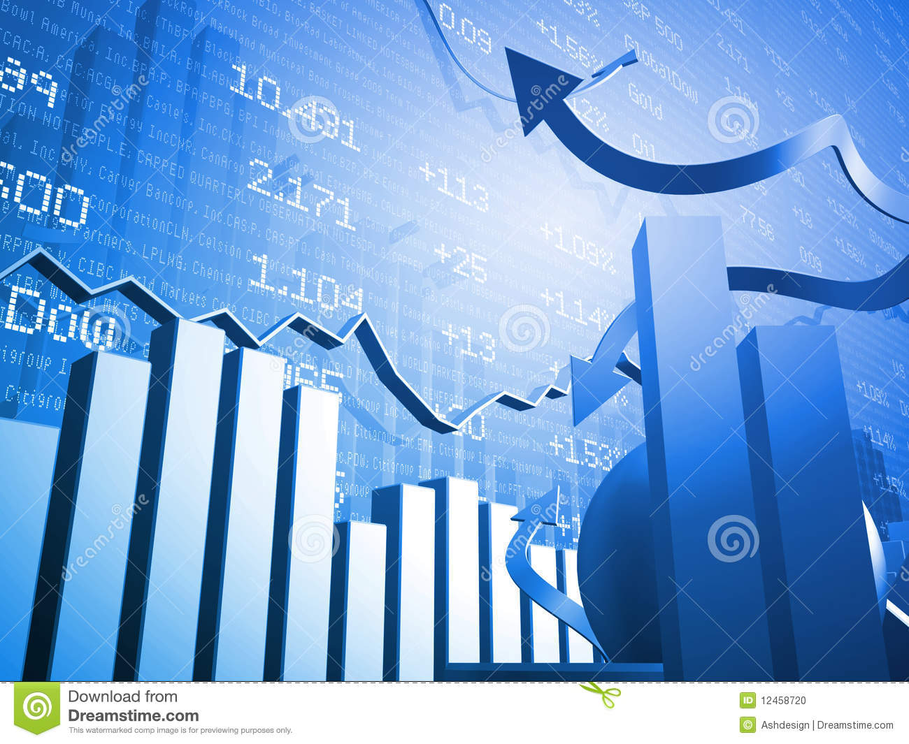 Stock Markets Up Stock Market Up And Down Arrows Stock Photo Image 12458720