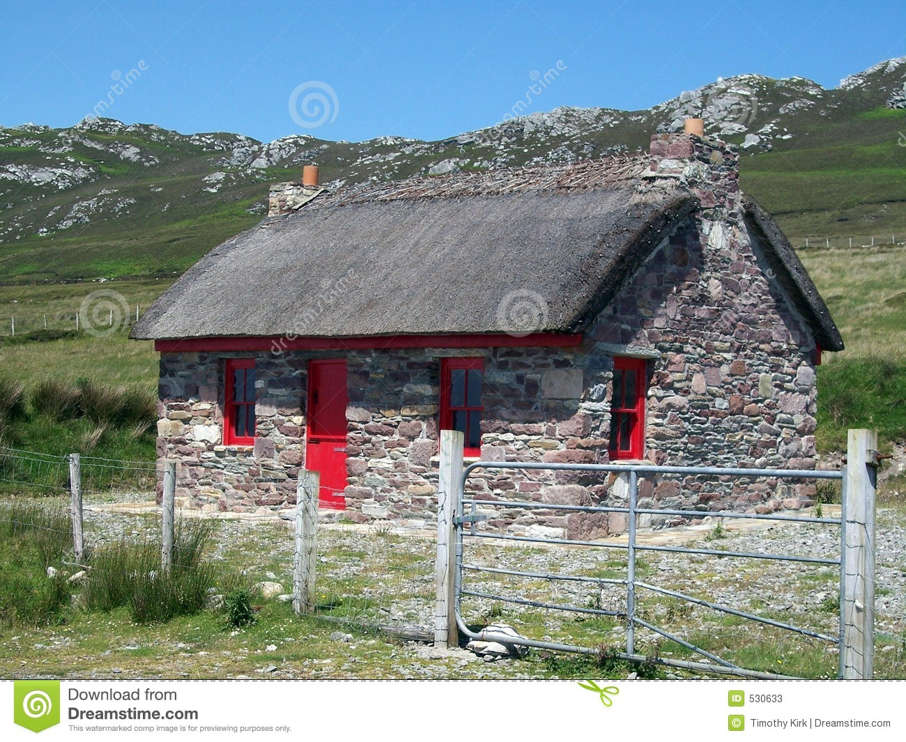 Irish Stone Houses Stone Cottage In Ireland Stock Photos Image 530633