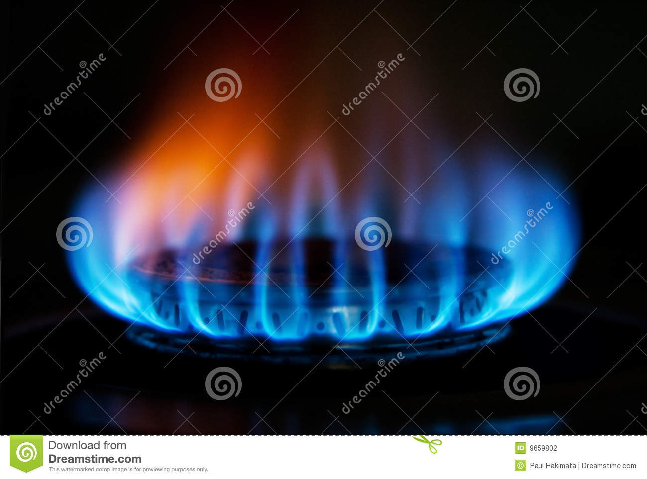 Cocinas Fuego Stove Gas Fire Flame Stock Photo Image Of Blue Heating
