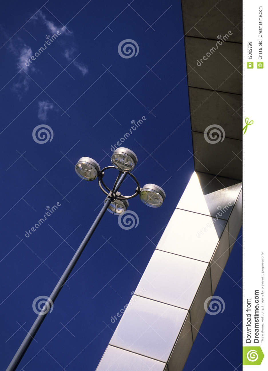 Lampen Dortmund Street Lamp And Modern Sculpture Fine Art Stock Image Image Of