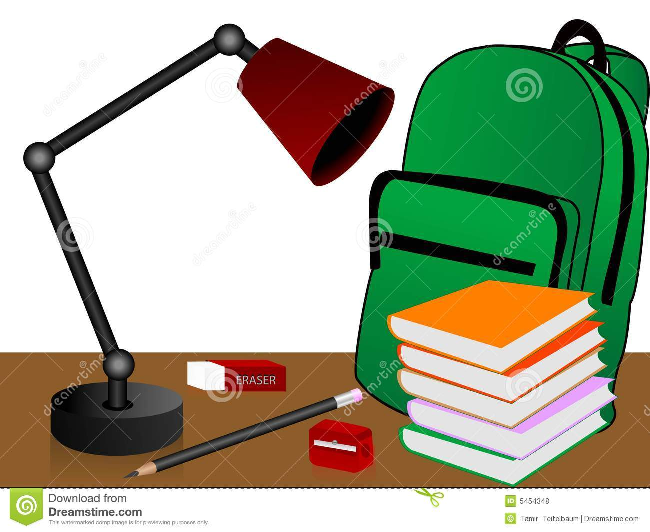 Study Table Light Study Table Stock Illustration Image Of Backdrop Lamp