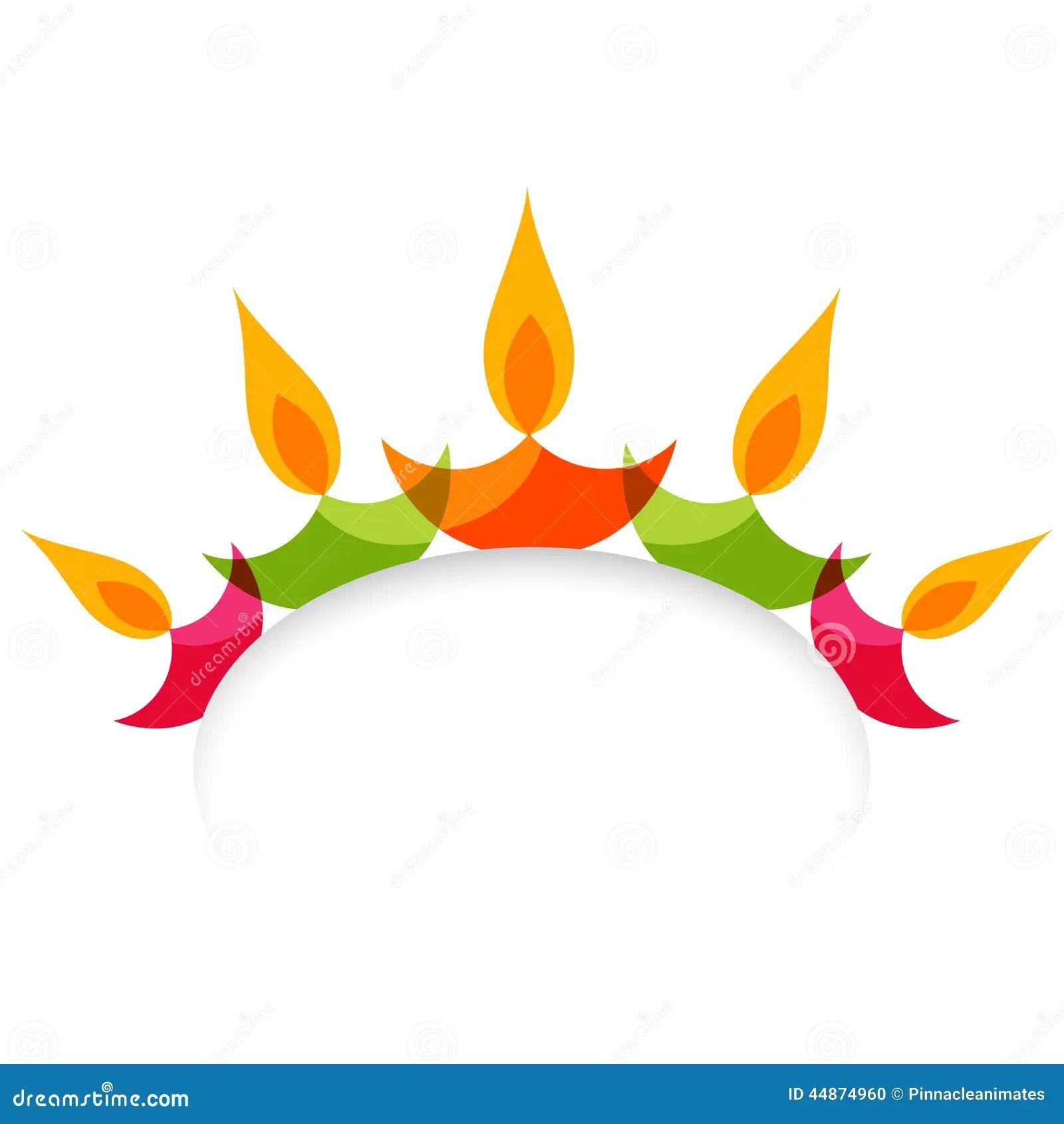 Animated Diwali Diya Wallpapers Stylish Colorful Diwali Diya Isolated On White Background
