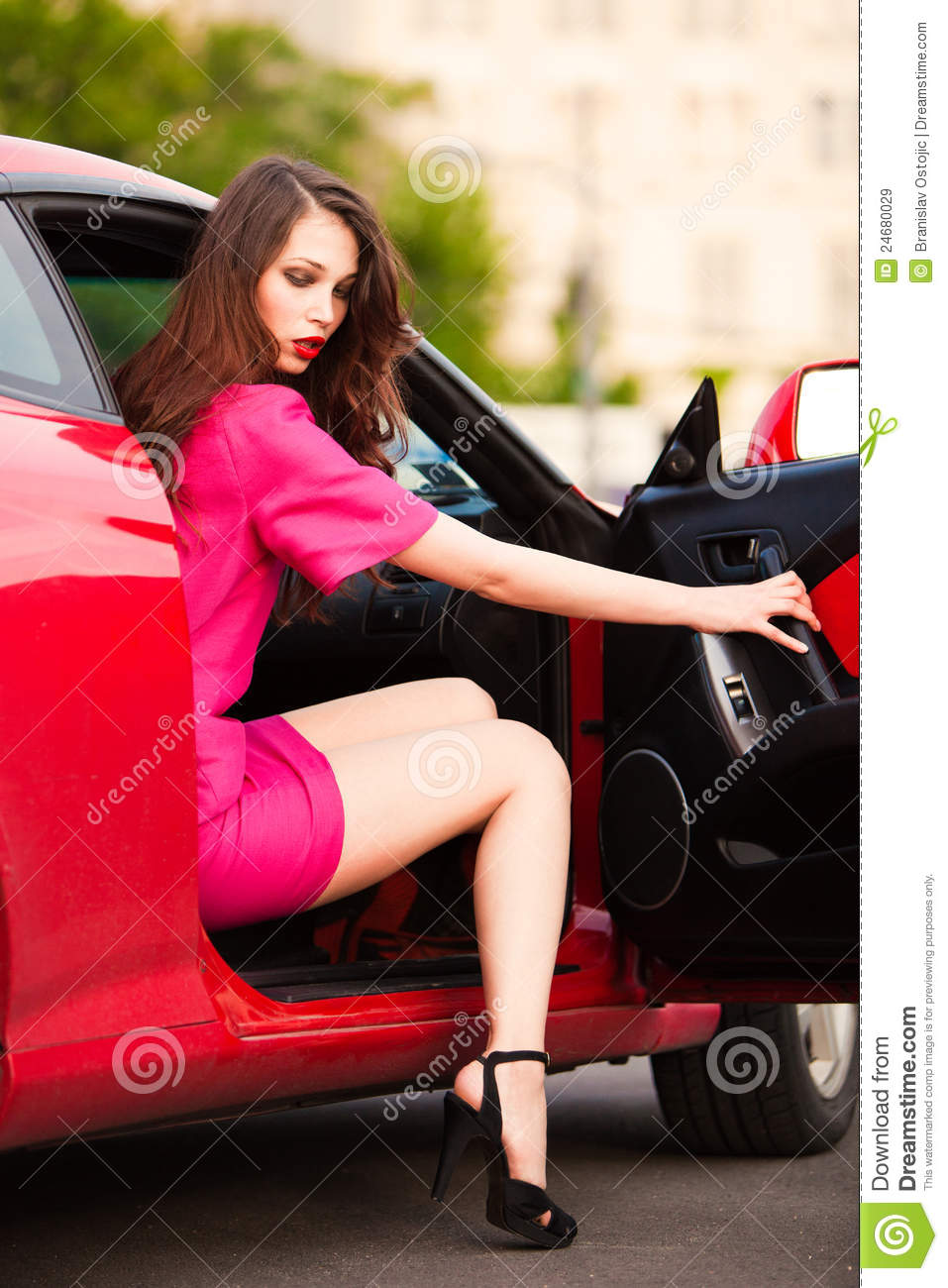 Fast And Furious Cars Wallpaper Free Download Stylish Woman In Red Car Stock Image Image Of Heels