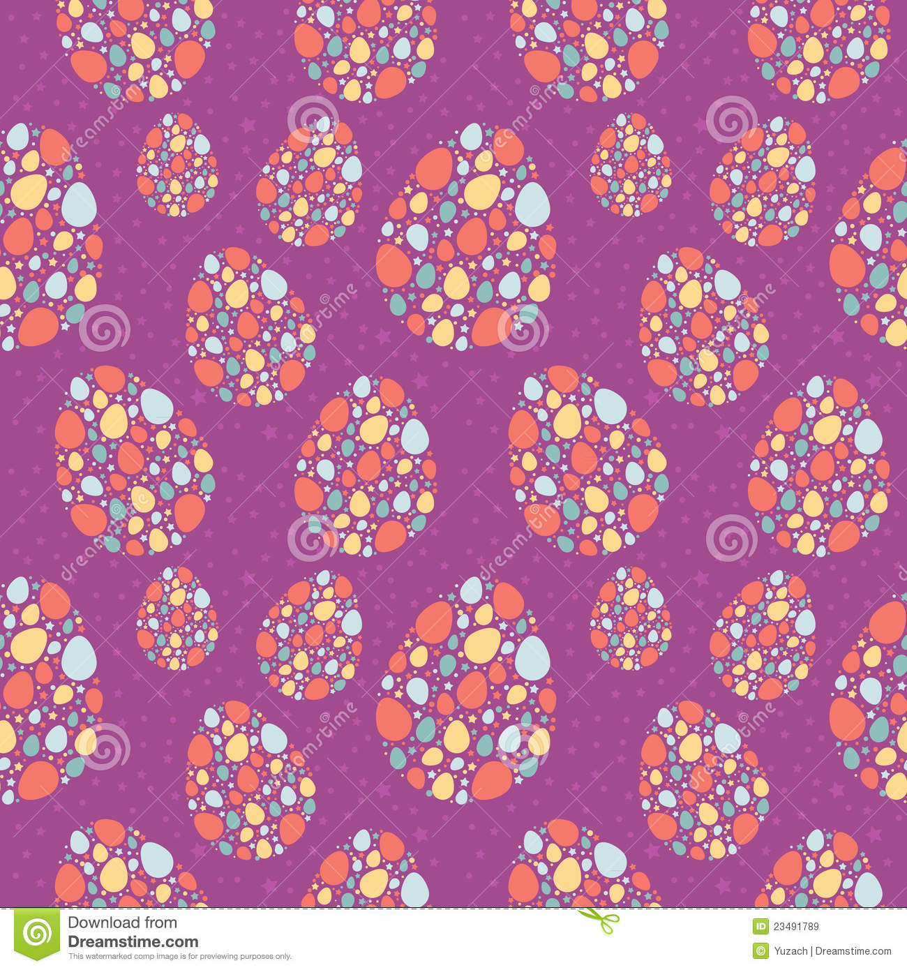 Cute Easter Egg Wallpaper Stylized Easter Eggs Seamless Texture Royalty Free Stock