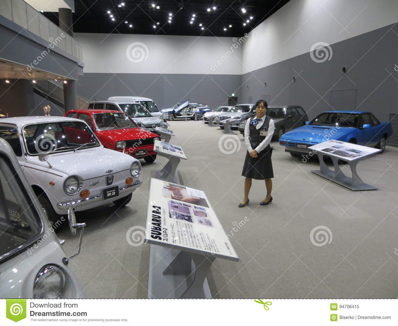 Vehicle Manufacturers In Japan Subaru Automobile Museum In Japan Editorial Image Image Of