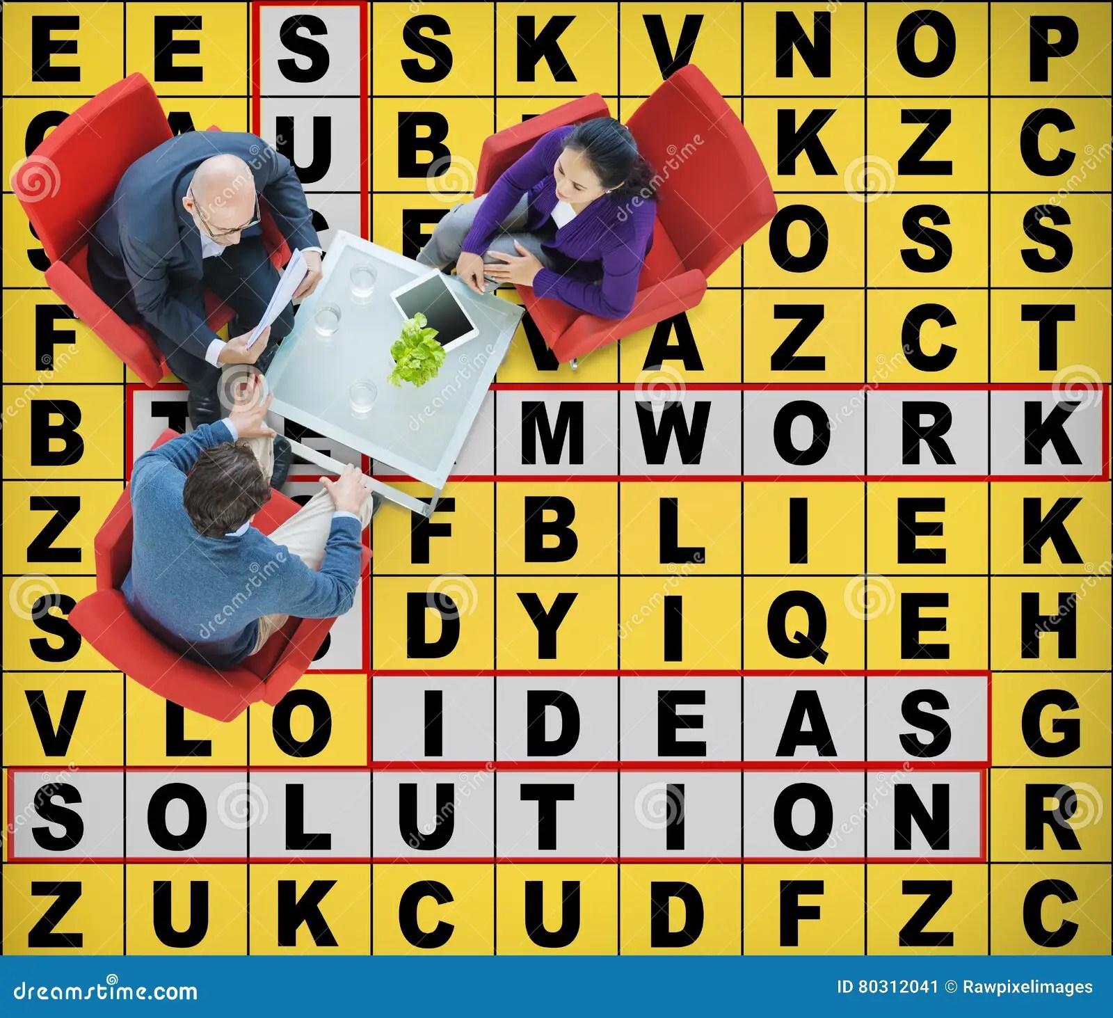 Success Crossword Puzzle Words Achievement Game Concept Stock Image - words for achievement