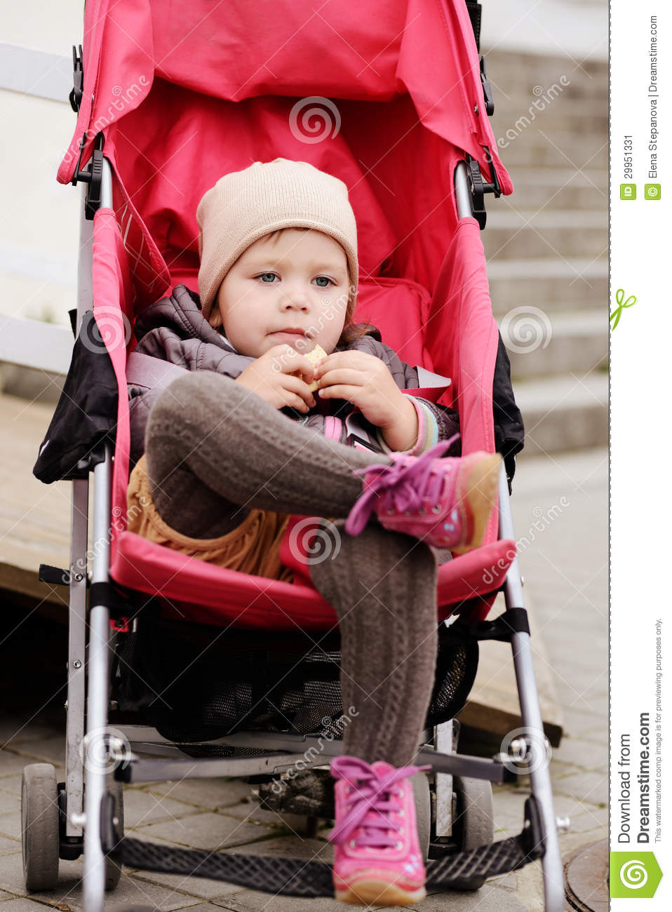 Carriage Pram Stroller Such A Cute Girl Stock Image Image Of Happy Child