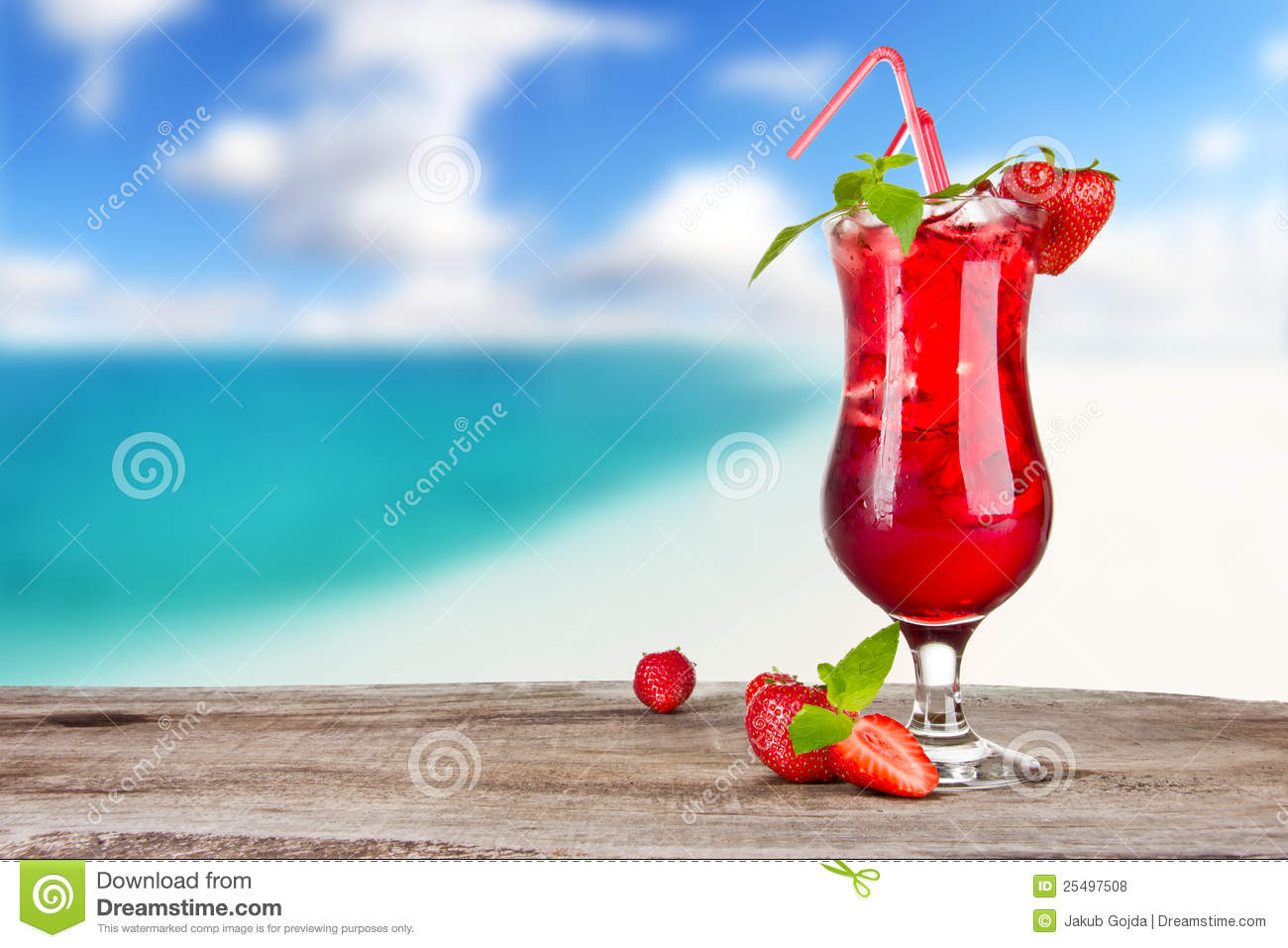 3d Fruit Wallpaper Summer Cocktail Royalty Free Stock Photos Image 25497508