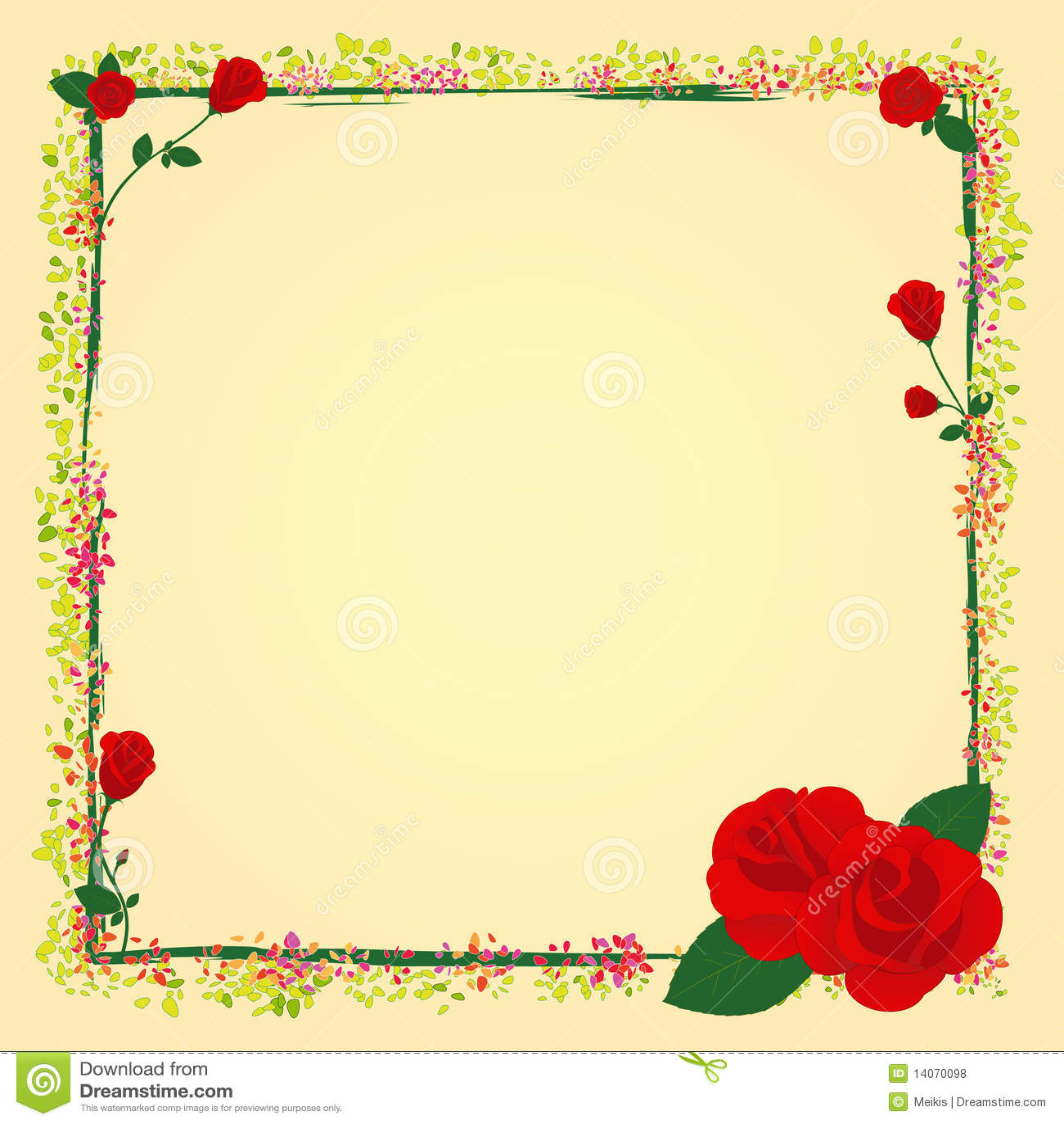 Rose Flower Garden Hd Wallpaper Summer Rose Garden Flower Frame Royalty Free Stock Photos
