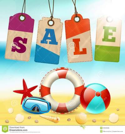 Summer sale wallpaper stock vector. Illustration of promo - 39503089