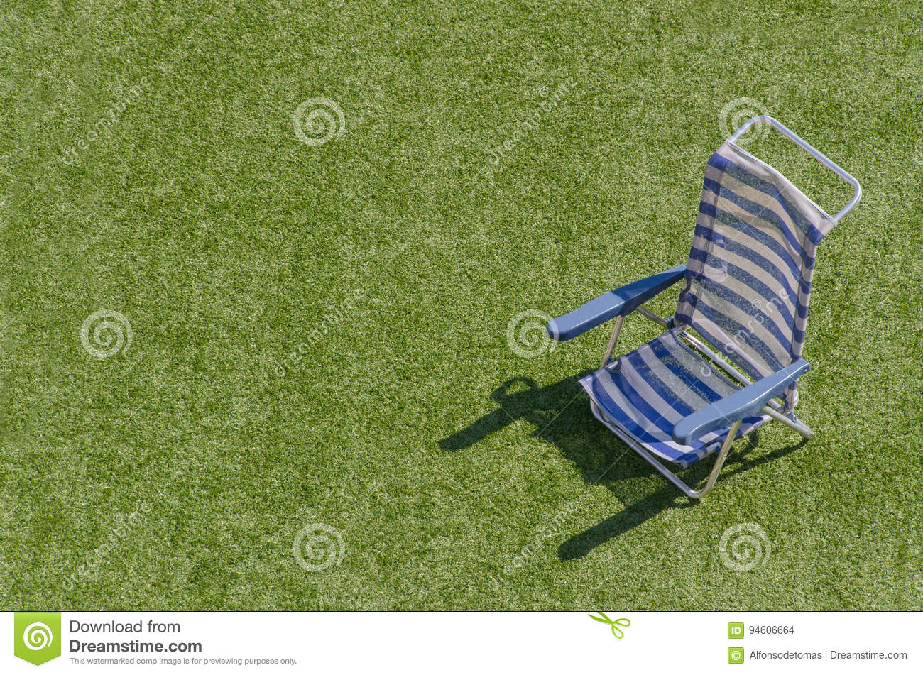 White Sun Lounge Sun Lounger In Blue And White Horizontal Stock Photo Image Of