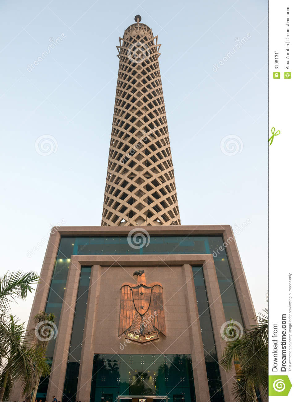 Alex Turm Sunset View Of Cairo Tower Stock Image - Image: 31961311