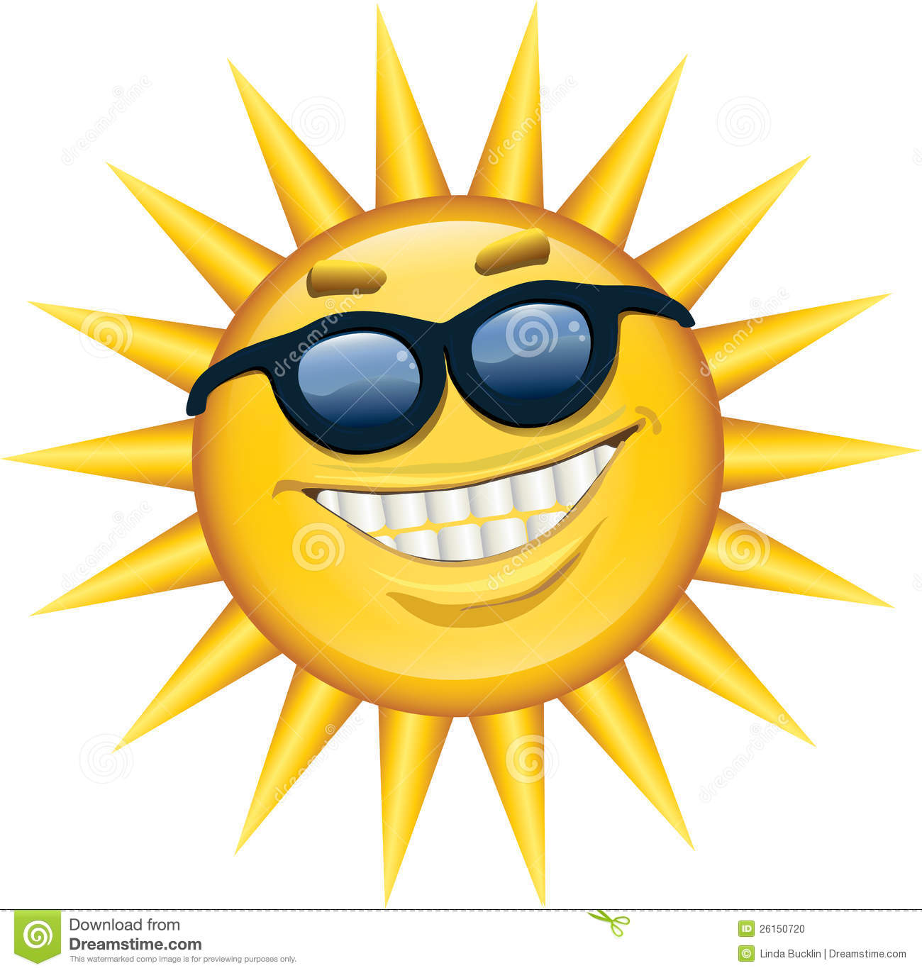 Sonnenschirm Blau Sunshine Smile Stock Photo - Image: 26150720