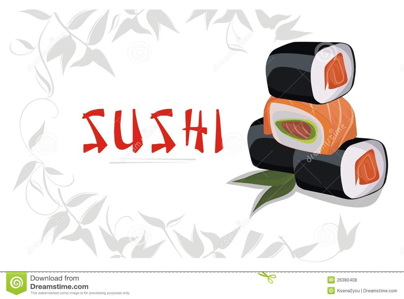 Cute Sushi Wallpaper Sushi Menu Royalty Free Stock Photos Image 26380408