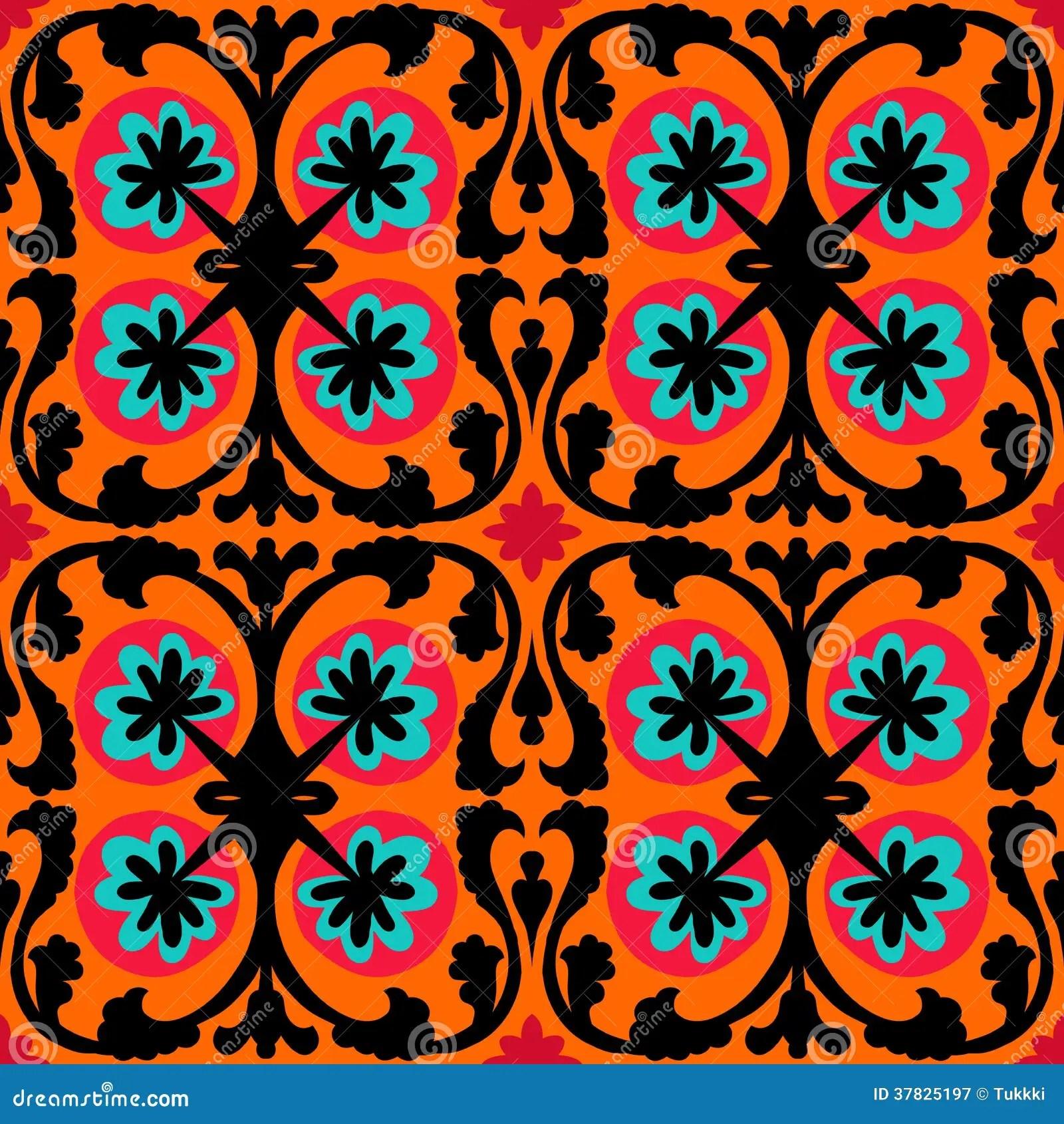 Free Wallpaper Fall Flowers Suzani Pattern With Uzbek And Kazakh Motifs Stock Image