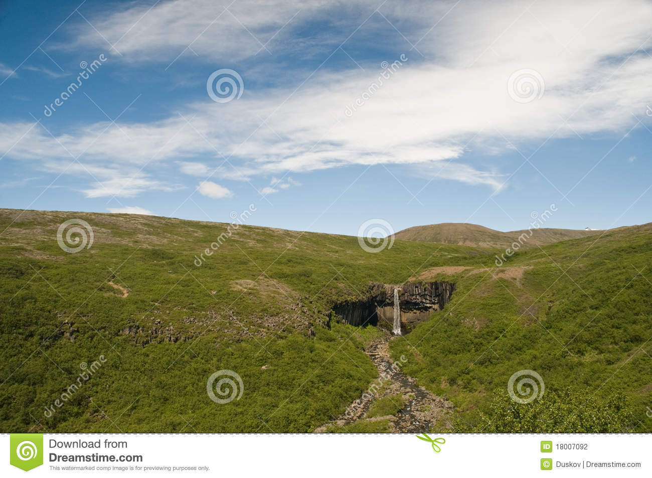 Bolti Farmhouse Svartifoss Iceland Stock Photography Image 18007092