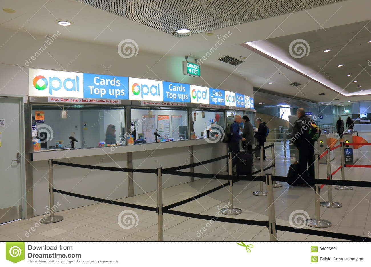 Sydney Airport Shops Sydney Train Ticket Office Sydney Airport Australia Editorial