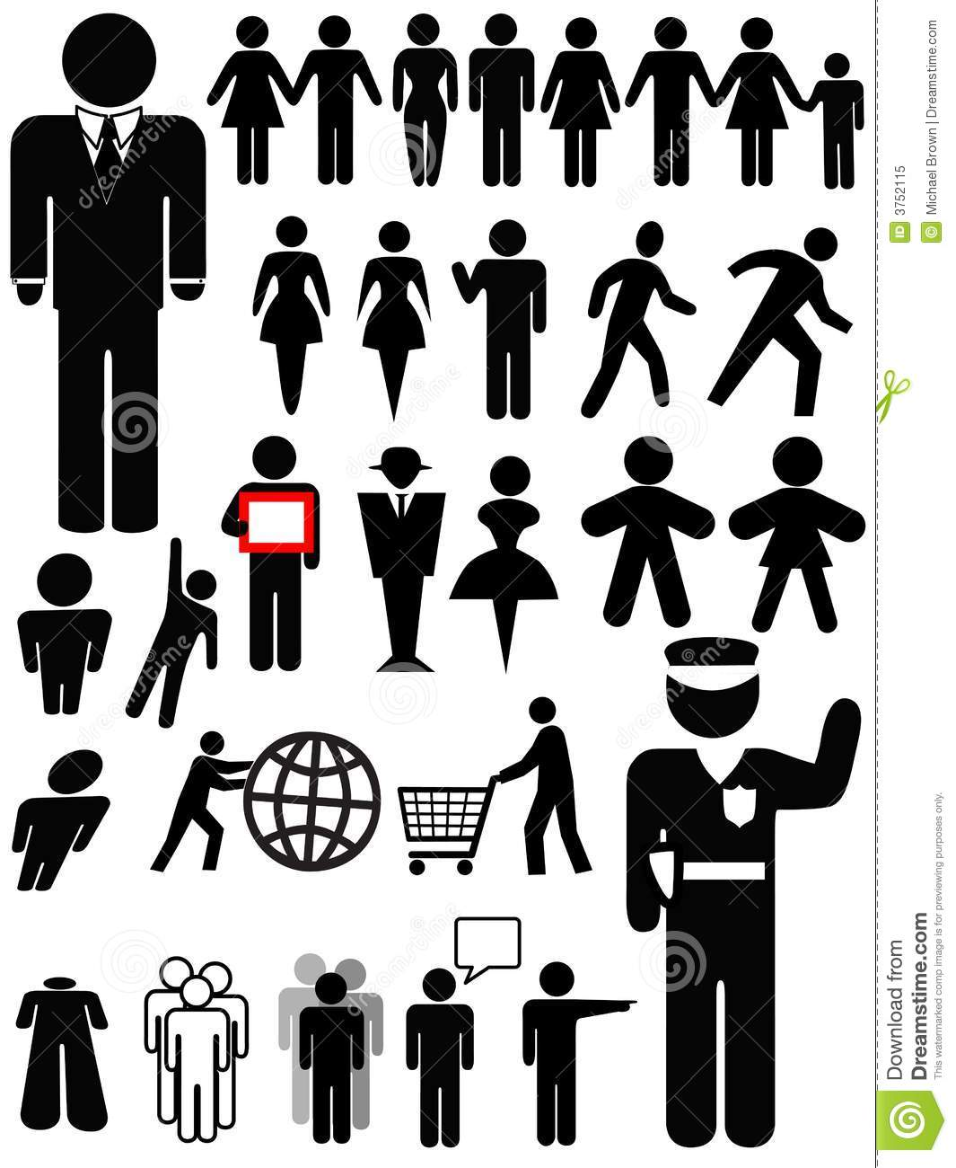 Police Officer Wallpaper Hd Symbol Person Silhouette Set Stock Vector Illustration
