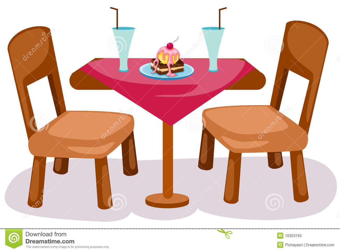 Table And Chairs Stock Vector Illustration Of House