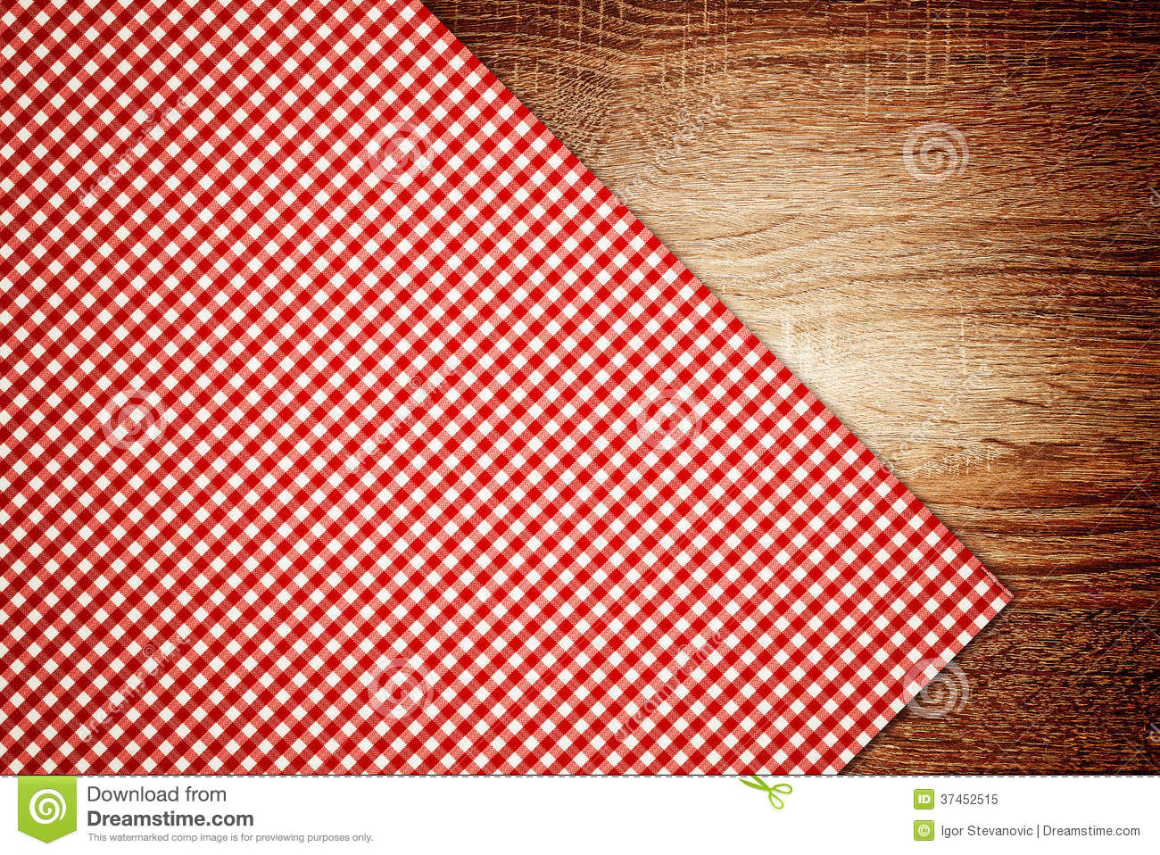 Table cloth kitchen napkin on wooden background royalty free stock